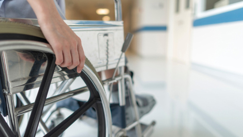 Disabled person considering treatment
