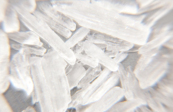 A closeup of shards of crystal meth