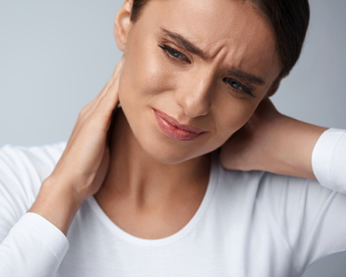 Woman experiencing butalbital side effects