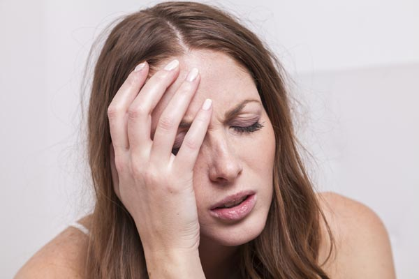 Woman experiencing sleeping pill withdrawal